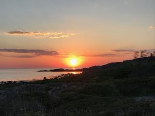 Havet solnedgång klippor