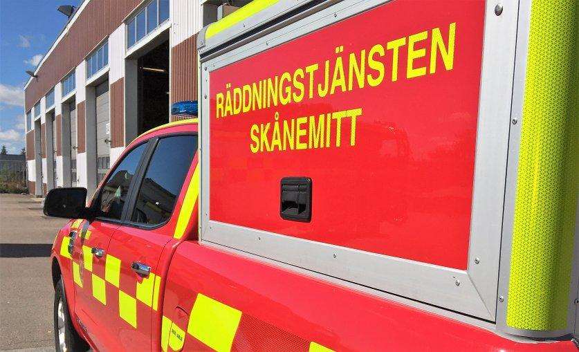Räddningsfordon från räddningstjänsten Skånemitt