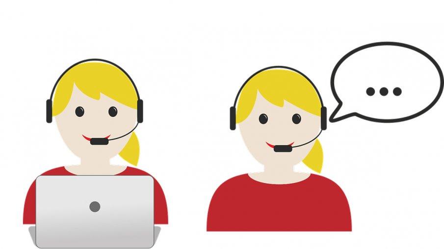 Illustration på två telefonister