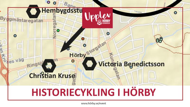 Historiecykling i Hörby - karta