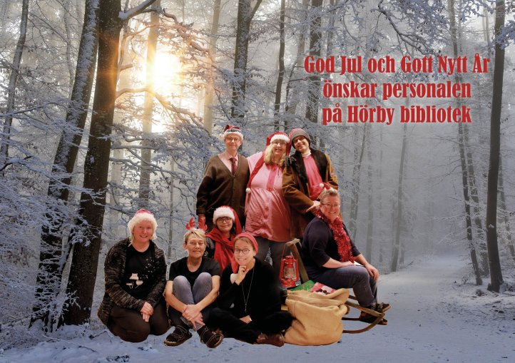 God jul från personalen på biblioteket