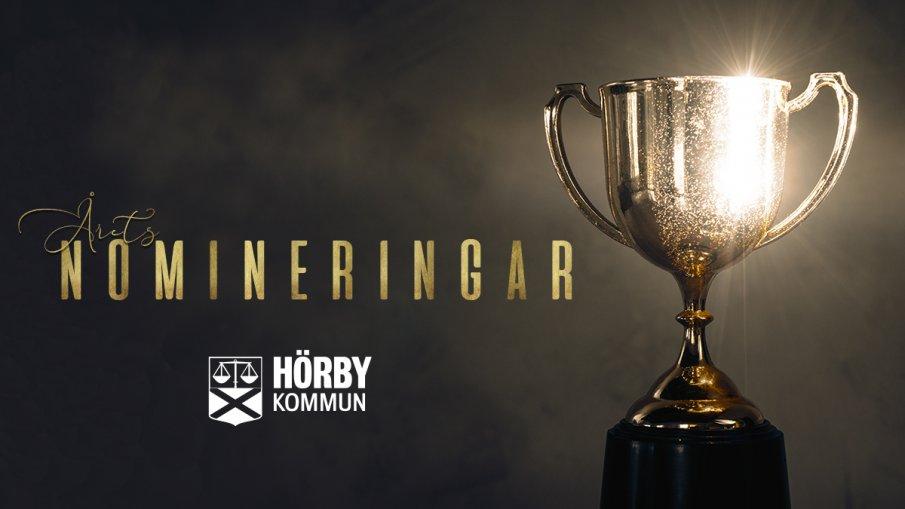 Pokal med texten nominering