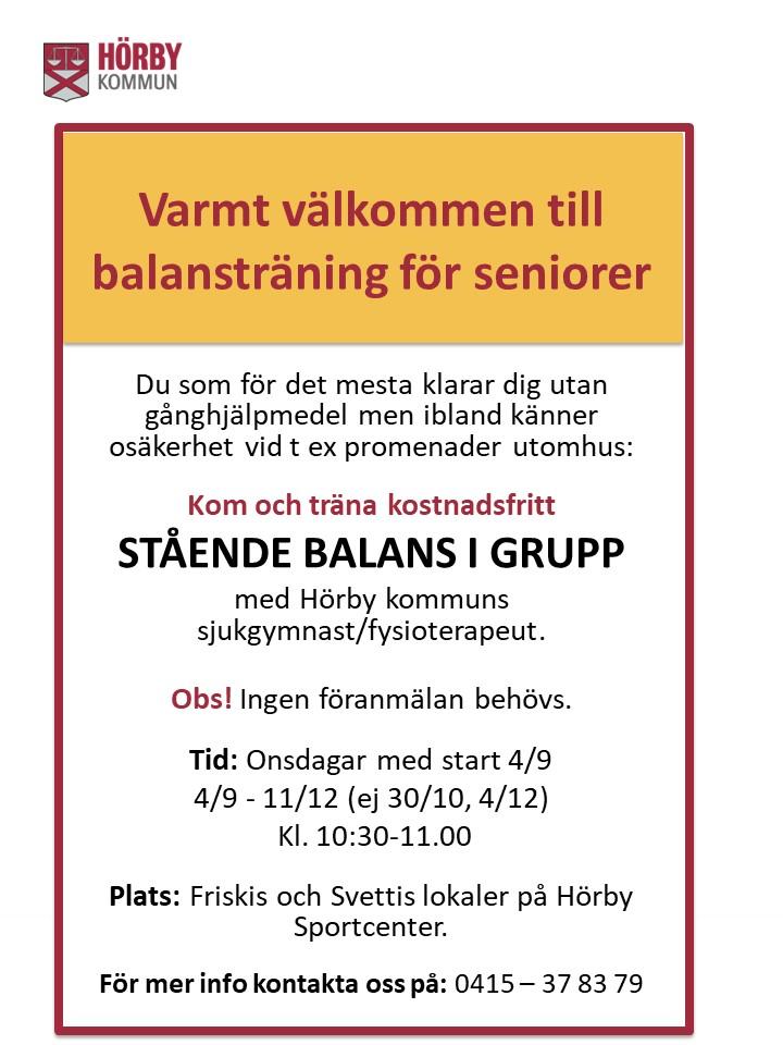 Inbjudan Balansträning